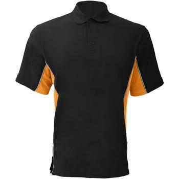 vaatteet Miehet Lyhythihainen poolopaita Gamegear KK475 Black/Orange/White