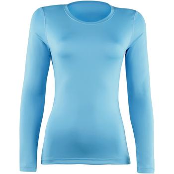 vaatteet Naiset T-paidat pitkillä hihoilla Rhino  Light Blue