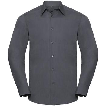 vaatteet Miehet Pitkähihainen paitapusero Russell 924M Convoy Grey