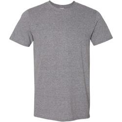 vaatteet Miehet Lyhythihainen t-paita Gildan Soft-Style Graphite Heather