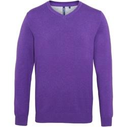 vaatteet Miehet Neulepusero Asquith & Fox AQ042 Purple Heather