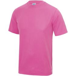 vaatteet Lapset Lyhythihainen t-paita Awdis JC01J Electric Pink