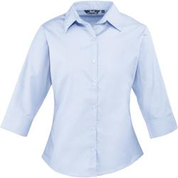 vaatteet Naiset Paitapusero / Kauluspaita Premier Poplin Light Blue