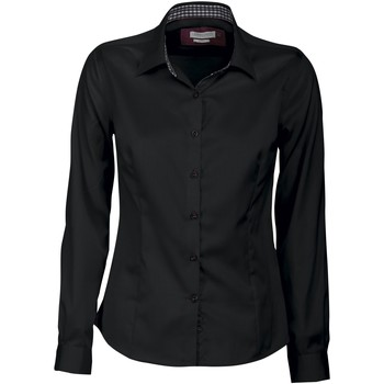 vaatteet Naiset Paitapusero / Kauluspaita J Harvest & Frost JF006 Black/ Red