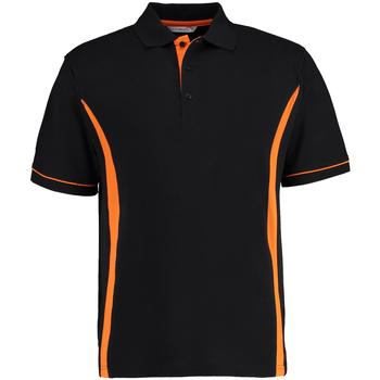 vaatteet Miehet Lyhythihainen poolopaita Kustom Kit Scottsdale Black/Orange