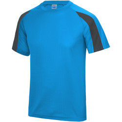 vaatteet Miehet Lyhythihainen t-paita Just Cool JC003 Sapphire Blue/ Charcoal
