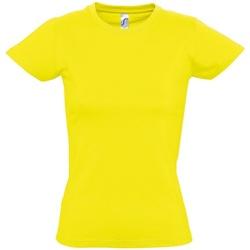 vaatteet Naiset Lyhythihainen t-paita Sols 11502 Lemon