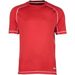 vaatteet Miehet Lyhythihainen t-paita Rhino RH041 Red/White Stitching