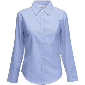 vaatteet Naiset Paitapusero / Kauluspaita Fruit Of The Loom 65002 Oxford Blue