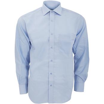 vaatteet Miehet Pitkähihainen paitapusero Kustom Kit KK116 Light Blue