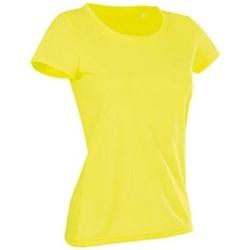 vaatteet Naiset Lyhythihainen t-paita Stedman Cotton Touch Cyber Yellow
