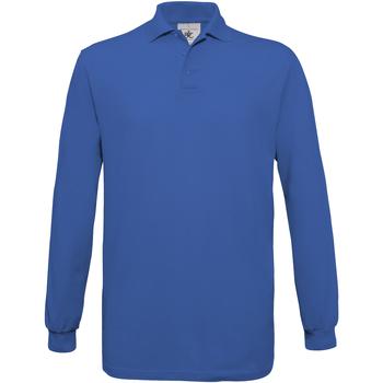 vaatteet Miehet Pitkähihainen poolopaita B And C PU414 Royal Blue