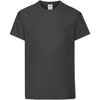 vaatteet Lapset Lyhythihainen t-paita Fruit Of The Loom 61019 Black