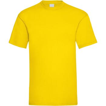 vaatteet Miehet Lyhythihainen t-paita Universal Textiles 61036 Bright Yellow