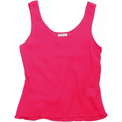 vaatteet Naiset Hihattomat paidat / Hihattomat t-paidat Brave Soul BS163 Bubblegum Pink