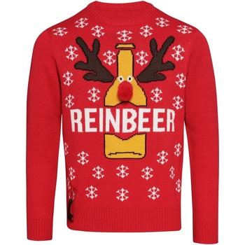 vaatteet Miehet Neulepusero Christmas Shop CJ003 Red
