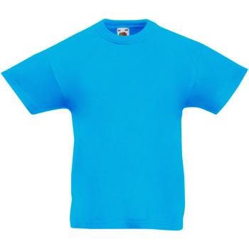 vaatteet Lapset Lyhythihainen t-paita Fruit Of The Loom 61019 Azure Blue