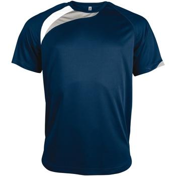 vaatteet Miehet Lyhythihainen t-paita Kariban Proact PA436 Navy/ White/ Storm Grey