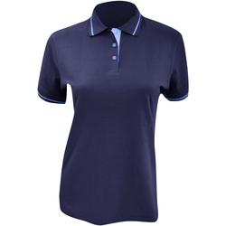 vaatteet Naiset Lyhythihainen poolopaita Kustom Kit Mellion Navy/Light Blue