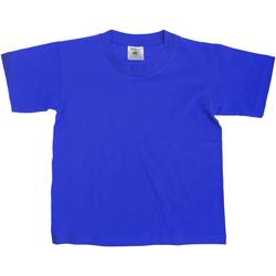 vaatteet Lapset Lyhythihainen t-paita B And C TK300 Royal