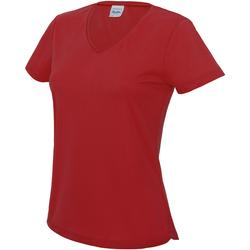vaatteet Naiset Lyhythihainen t-paita Awdis JC006 Fire Red