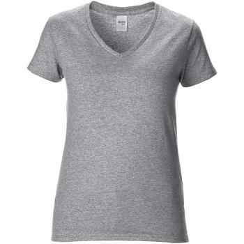 vaatteet Naiset Lyhythihainen t-paita Gildan GD015 RS Sport Grey