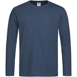 vaatteet Miehet T-paidat pitkillä hihoilla Stedman  Navy