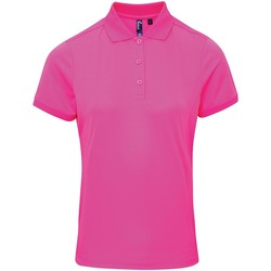 vaatteet Naiset Lyhythihainen poolopaita Premier PR616 Neon Pink