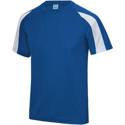 vaatteet Miehet Lyhythihainen t-paita Just Cool JC003 Royal Blue/ Arctic White
