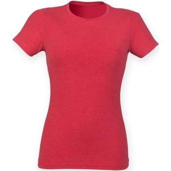 vaatteet Naiset Lyhythihainen t-paita Skinni Fit SK161 Red Triblend