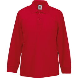 vaatteet Lapset Pitkähihainen poolopaita Fruit Of The Loom 63201 Red