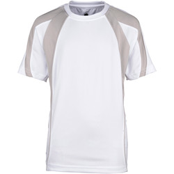 vaatteet Pojat Lyhythihainen t-paita Rhino RH40B White/Grey