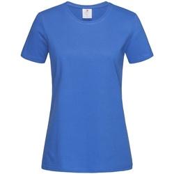 vaatteet Naiset Lyhythihainen t-paita Stedman Comfort Bright Royal