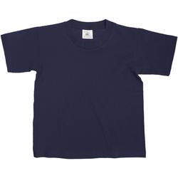 vaatteet Lapset Lyhythihainen t-paita B And C Exact Navy Blue