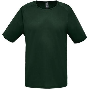 vaatteet Miehet Lyhythihainen t-paita Sols 11939 Forest Green