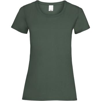 vaatteet Naiset Lyhythihainen t-paita Universal Textiles 61372 Dark Green