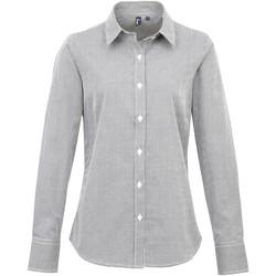 vaatteet Naiset Paitapusero / Kauluspaita Premier PR320 Black/White