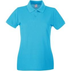 vaatteet Naiset Lyhythihainen poolopaita Universal Textiles 63030 Cyan