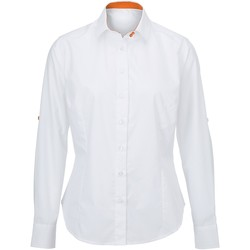 vaatteet Naiset Paitapusero / Kauluspaita Alexandra AX060 White/ Orange