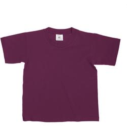 vaatteet Lapset Lyhythihainen t-paita B And C Exact Burgundy