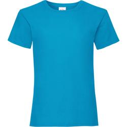 vaatteet Tytöt Lyhythihainen t-paita Fruit Of The Loom Valueweight Azure Blue