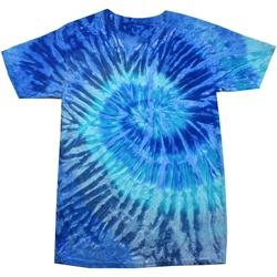 vaatteet Naiset Lyhythihainen t-paita Colortone Rainbow Blue Jerry