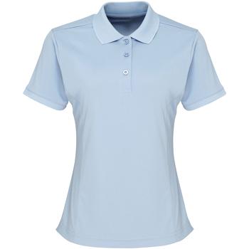 vaatteet Naiset Lyhythihainen poolopaita Premier PR616 Light Blue