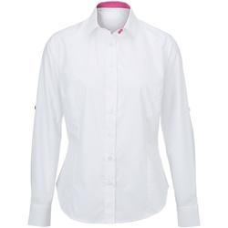vaatteet Naiset Paitapusero / Kauluspaita Alexandra AX060 White/ Pink