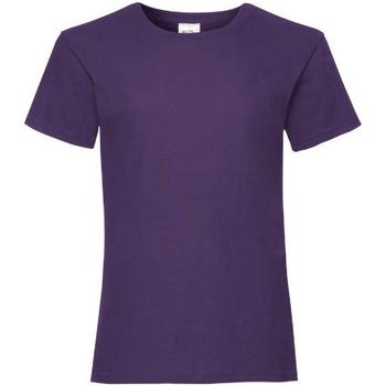 vaatteet Tytöt Lyhythihainen t-paita Fruit Of The Loom 61005 Purple