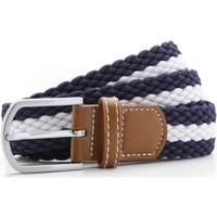 Asusteet / tarvikkeet Miehet Vyöt Asquith & Fox Two Colour Stripe Navy/White