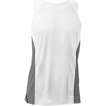 vaatteet Miehet Hihattomat paidat / Hihattomat t-paidat Gamegear KK973 White/Grey