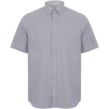vaatteet Miehet Lyhythihainen paitapusero Henbury HB595 Slate Grey