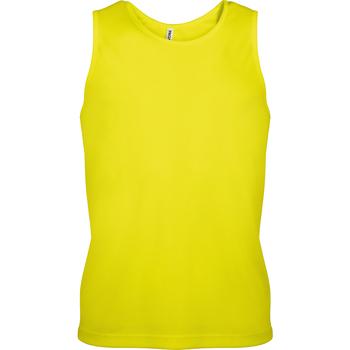 vaatteet Miehet Hihattomat paidat / Hihattomat t-paidat Kariban Proact PA441 Fluorescent Yellow