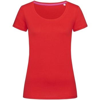 vaatteet Naiset Lyhythihainen t-paita Stedman Stars  Crimson Red